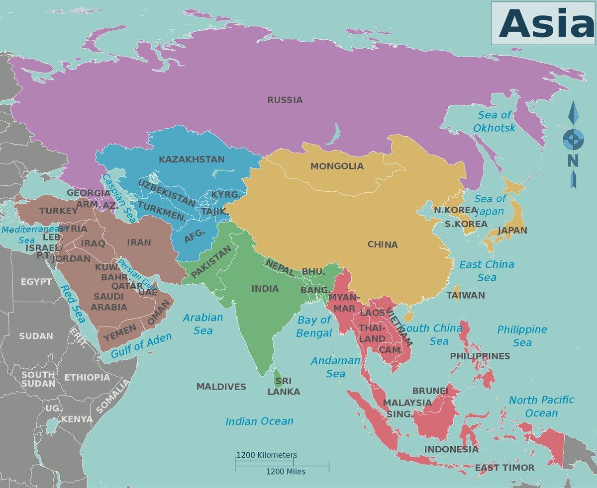 Karta Indien Thailand.Asiens Karta