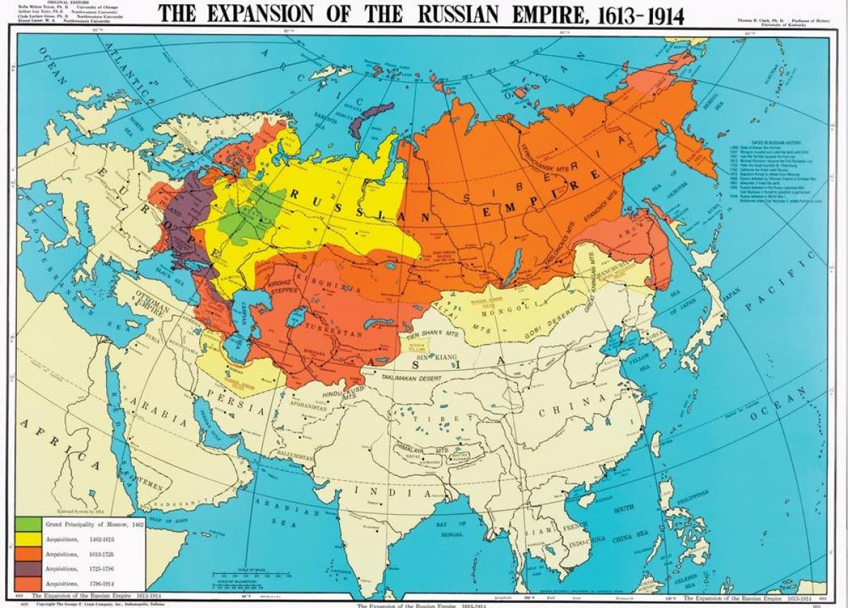 Ryssland Karta 1914 Karta Over Ryssland 1914 Ostra Europa Europa
