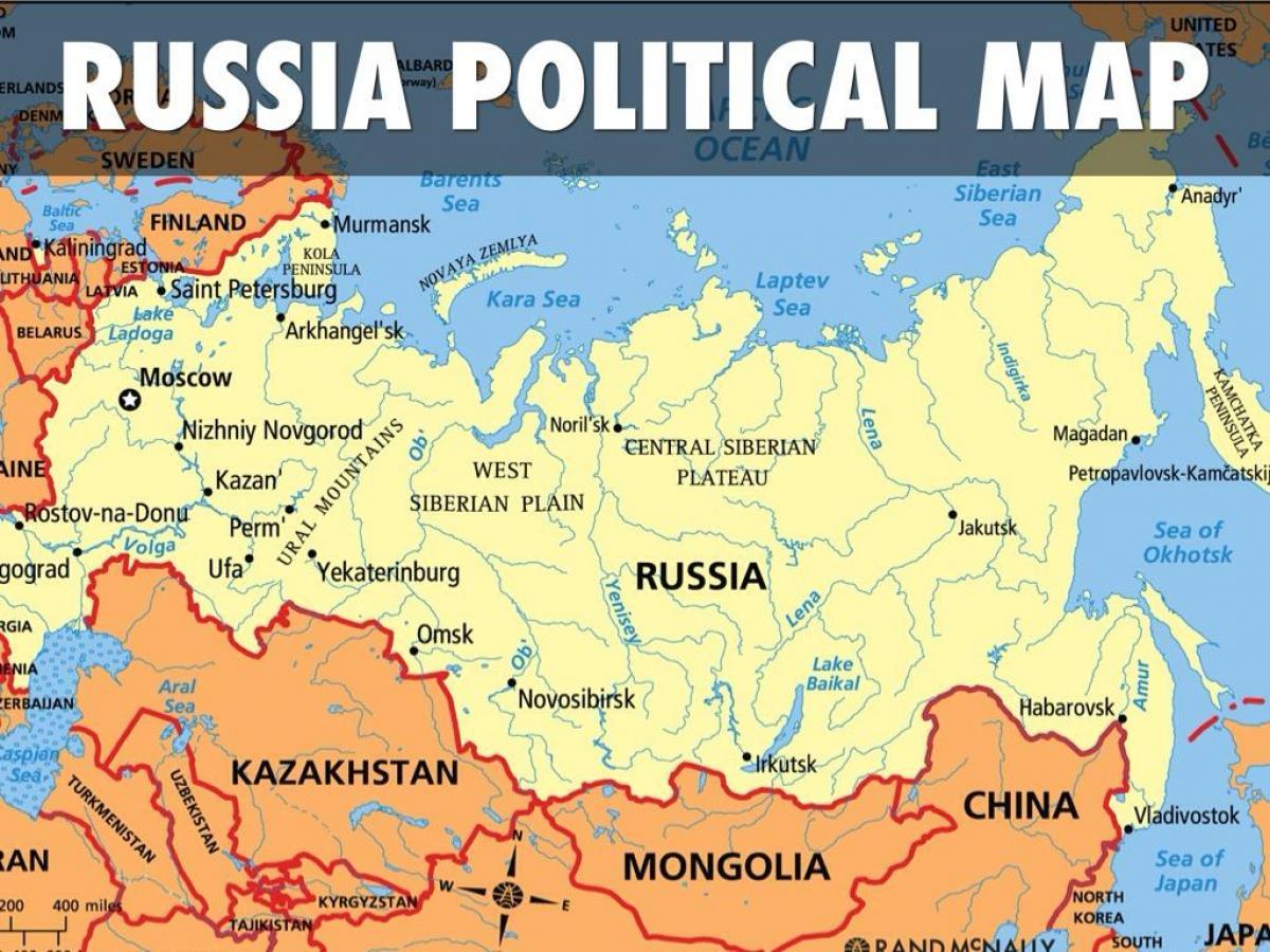 Karta Lander I Europa.Ryssland Karta Lander Karta Over Ryssland Och Lander I Ostra